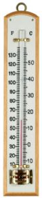 Wall thermometer with white scale